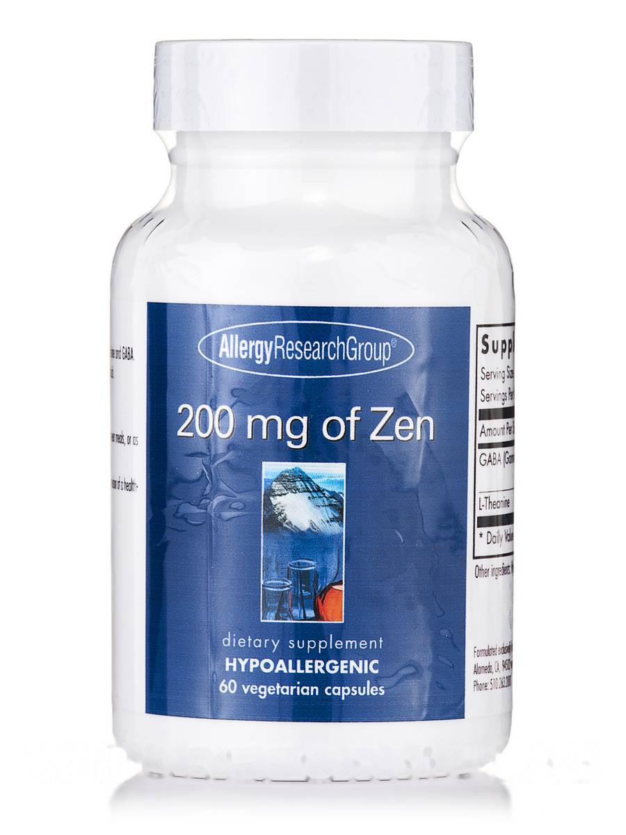 200 mg of Zen, 60 Vegetarian Capsules