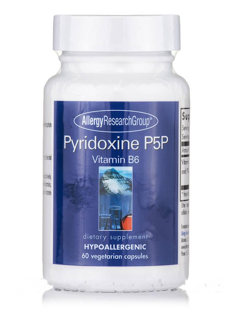 Pyridoxine P5P (B-6), 60 Vegetarian Capsules