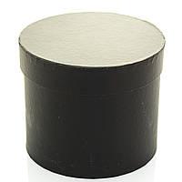 Подарочная коробка круглая черная 16 x 13 см