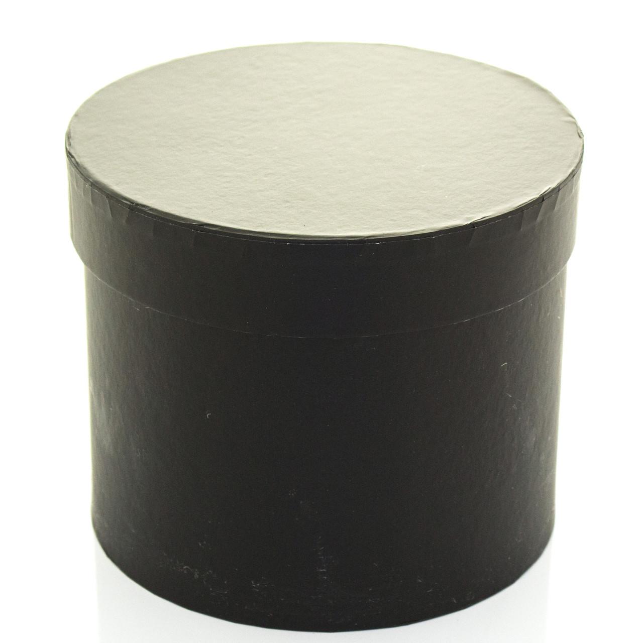 Подарочная коробка круглая черная 20 x 16 см