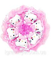 Букет из мягких игрушек Котики 6 в розовом