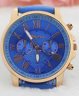 Стильные женские часы Geneva Platinum. Голубые