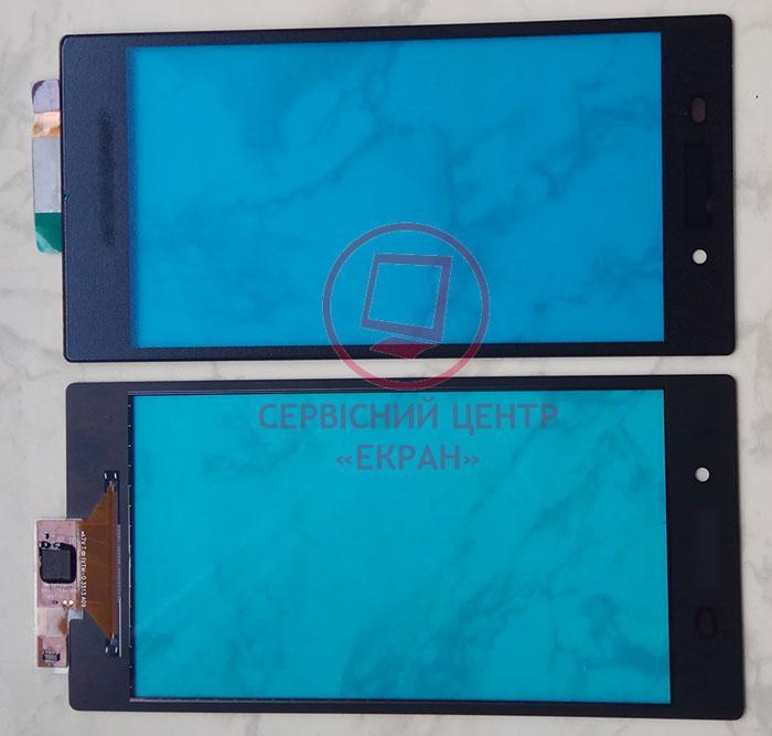 Sony Xperia Z1 c6902 c6903 L39h сенсорний екран, тачскрін чорний