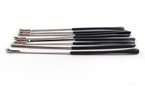 Заушник серый на металлическую оправу, полускрытый флекс