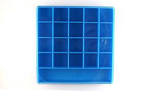 Коробка под винт пластиковая с крышкой синяя