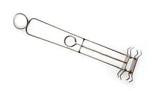 Держатель пружинный для покраски пластиковых линз двойной (1 пружина)