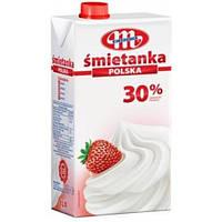 Сливки натуральные Smietanka Polska 30%, 1 л, Mlekovita, Польша