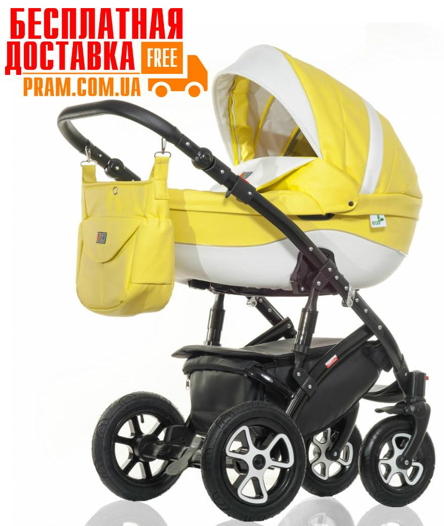 Универсальная коляска 2 в 1 Broco Eco Желтый