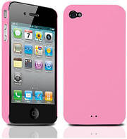 Накладка для iPhone 4/4S поликарбонат Tunewear Eggshell розовый (IP4-EGG-SHELL-03)