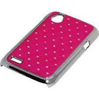Накладка для iPhone 5/5S пластик Diamond Cover розовый
