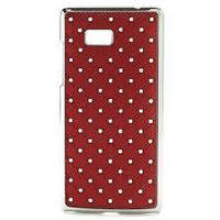 Накладка для iPhone 5/5S пластик Diamond Cover красный