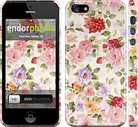 Накладка для iPhone 5/5S пластик Endorphone цветочные обои глянец (820c-18-183)