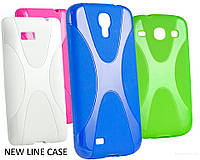 Накладка для iPhone 5/5S силикон New Line X-series зеленый