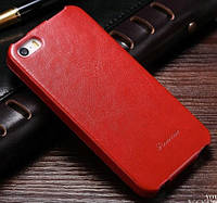 Чехол-Книжка для iPhone 5/5S Infinity Fashion (флип) красный