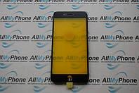 Стекло корпуса для мобильного телефона Apple iPhone 8 Plus с рамкой черное