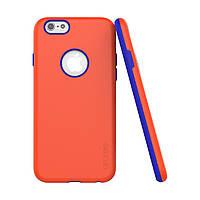 Накладка для iPhone 6/6s TPU+PC Araree Amy case Оранжевый/Синий (ARIP6AM5 изитрейд)