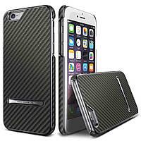 Накладка для iPhone 6/6s пластик Carbon Stick case Titanium Silver (VSIP6SCS4 изитрейд)