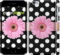 Накладка для iPhone 6/6s пластик Endorphone горошек 2 матовый (2147m-45-308)
