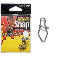 Застёжки Decoy V Snap size 2 38lb