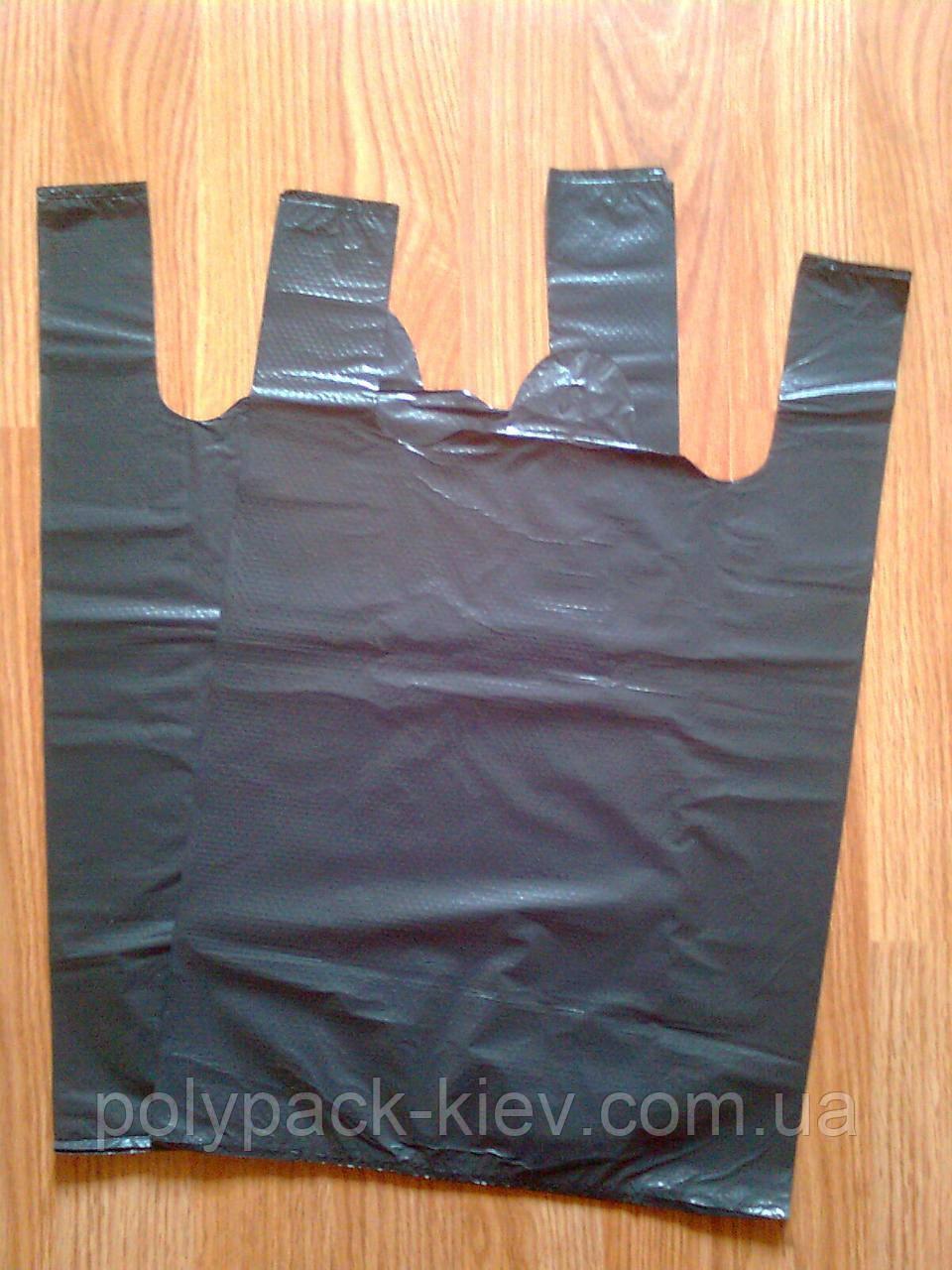 Пакет майка 30*45 см/30 мкм, полиэтиленовые пакеты без логотипа купить Киев кульки без печати от производителя