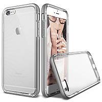 Накладка-бампер для iPhone 6/6s пластик-металл Verus Crystal Bumper case Light Silver (VSIP6SCB4 изитрейд)