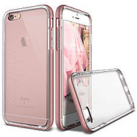 Накладка-бампер для iPhone 6/6s пластик-металл Verus Crystal Bumper case Rose Gold (VSIP6SCB2)