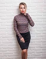 Стильный женский костюм из кофточки и юбки