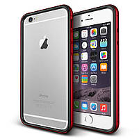 Бампер для iPhone 6 Plus/6s Plus металл Verus Iron Bumper Черный/красный (VSIP6PIB2)