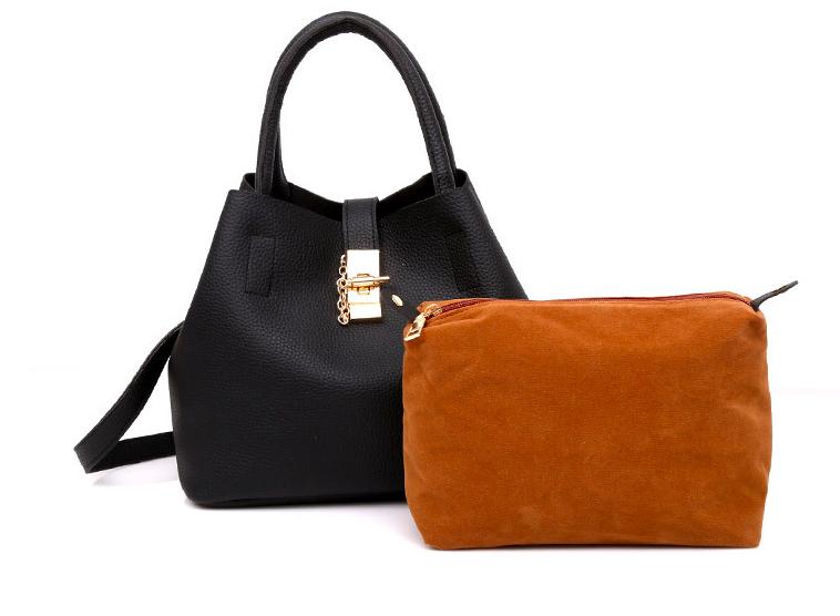 Женская сумка классическая с кошельком Melanie Черный