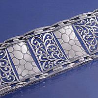 Браслет Вензеля широкий из серебра