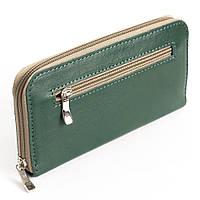 Женский кожаный кошелек на молнии LIKA (зеленый)