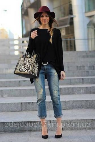 Какую одежду одеть с женскими джинсами бойфренды.