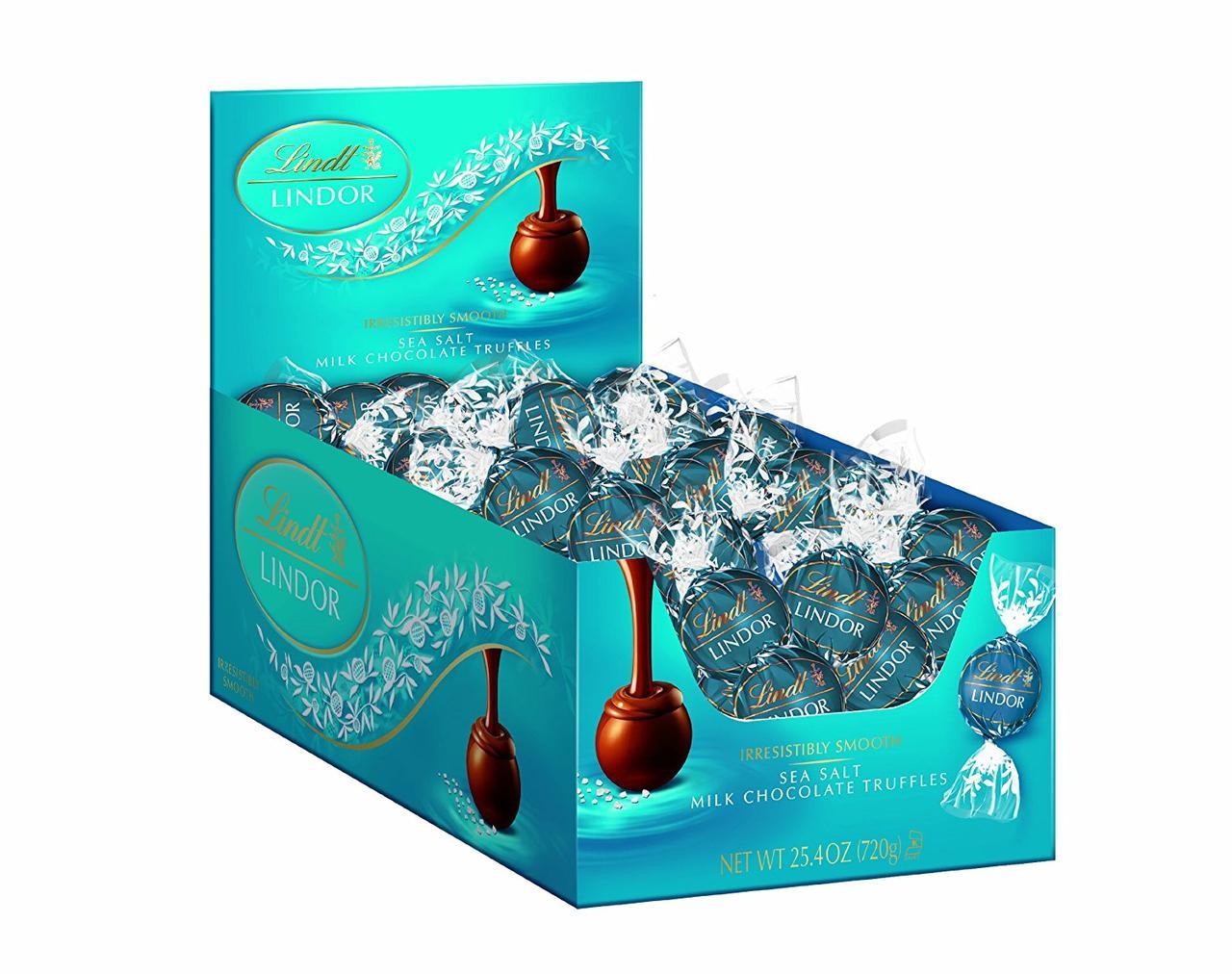 Lindt Lindor Трюфели молочный шоколад с морской солью, 720г