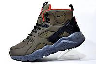 Зимние кроссовки Nike Air Huarache Ultra Mid Lea, на меху Tan Brown