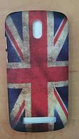 Накладка для HTC Desire 500 пластик Флаг Великобритании