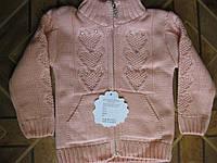 Детская теплая кофточка сердечки для девочек 1-3 года Турция