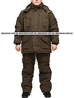 """Теплый зимний комплект одежды для рыбаков и охотников """"Олива-хаки"""" размер 52-54"""