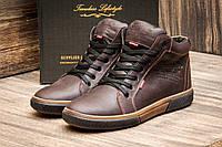 Кожаные мужские ботинки wrangler brown, фото 1