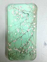Накладка для Samsung J110H Galaxy J1 силикон 0,3mm Infinity Slim Glamour цветущее дерево