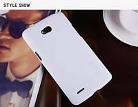 Накладка для LG D380 Optimus L80 III Dual Sim пластик Nillkin Matte белый (+ пленка)