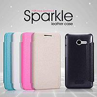 Чехол-Книжка для Samsung J100 Galaxy J1 Nillkin Sparkle Series розовый