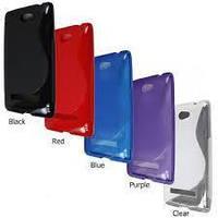 Накладка для LG P715 Optimus L7 силикон TPU Duotone голубой