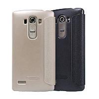 Чехол-Книжка для LG G4s Dual H734 Nillkin Sparkle Series Золотой