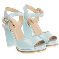 Босоножки женские Gelsomino (голубые, на каблуке, удобные, модные)