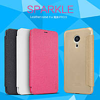 Чехол-Книжка для Meizu MX5 Nillkin Sparkle Series розовый