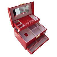 Шкатулка - автомат красная для украшений 09-15