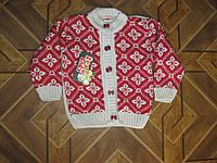 Детские теплые кофточки Орнамент для девочек 74-80 см  Турция