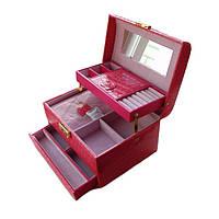 Шкатулка - автомат розовая для украшений 09-15