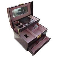 Шкатулка - автомат коричневая для украшений 09-15