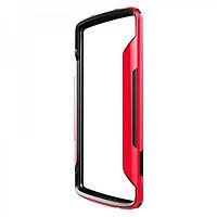 Бампер для Samsung A500H Galaxy A5 пластик Nillkin Border series красный